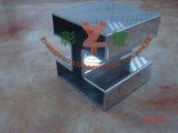 Geländer mit 304, quadratisches gekerbtes Gefäß des Edelstahl-316