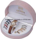 변하기 쉬워 반지를 가진 선물 고정되는 시계 그리고 변하기 쉬워 결박