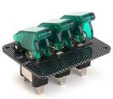 Painel do interruptor do Toggle da ignição do carro de competência 12V do painel da fibra do carbono