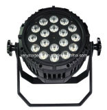 Водонепроницаемый 18X10W RGBW PAR64 LED PAR лампа для установки вне помещений
