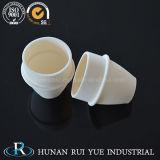 Creusets en céramique d'alumine en céramique de qualité de grande pureté avec le couvercle