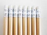 Crayon à crayons en bois naturel avec crayon à crayons avec gomme à effacer