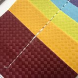 Het Leer van het Ontwerp Pu van de Mat van het stro voor het Maken van de Hielen van Sandals van Schoenen