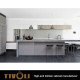 白い絵画メラミンベニヤオプションTivo-0150Vの木製のキャビネットの現代デザイン食器棚