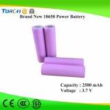 Heiße nachladbare Batterie 2500mAh 3.7V der Produkt-Vorlagen-18650