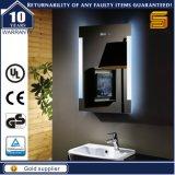 Espelho iluminado diodo emissor de luz fixado na parede decorativo do banheiro para o hotel