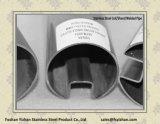 Tubo de sulco de aço inoxidável ASTM A554 304 para aperto de vidro