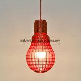 Luz de suspensão montada do bulbo de madeira brilhante do projeto autêntico