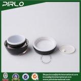 vaso crema cosmetico nero 10g con i vasi di plastica materiali acrilici della plastica del contenitore di imballaggio della crema di cura di pelle del coperchio