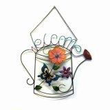 """Flor de tecido especial Decoração de parede de metal Decoração de jardim """"bem-vinda"""""""
