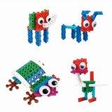14885508-4 in 1 Dier veranderde Blokken van het Stuk speelgoed DIY van de Uitrusting van het Blok de Onderwijs Creatieve Geplaatst 32PCS (Ostrich- van de Olifant van de Kikker Hond)