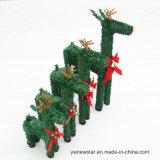 Ciervos verdes de la Navidad de Size30cm-60cm para la decoración del día de fiesta