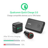 Anker Quick Charge Combo Bundle avec USB Turbo Wall Charger, étui de protection et accessoires (3 éléments), Power Bank Black