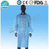 Vestido quirúrgico reforzado disponible de las Anti-Bacterias