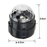 Mini DEL lumière magique en cristal de bille de vente de bille de la lumière magique en cristal bon marché chaude à télécommande pour la disco de l'usager KTV de famille