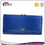 Fani бумажник крокодила наиболее поздно голубой длинний тонкий для женщин