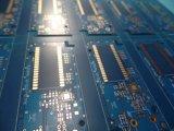 Il doppio del PWB di elettronica ha parteggiato per l'oro di immersione con Soldermask blu