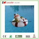 Señora gorda flotante divertida de la nueva charca en la estatuilla del regazo de la natación para la decoración del jardín