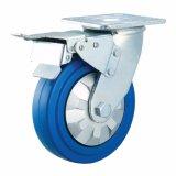 4/5/6/8 Zoll-blaues elastisches Gummi (ER)fußrollen-Rad für Laufkatze