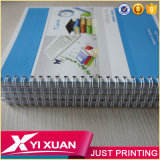 Notebooks de novidades inacreditáveis Custom A4 A5 Non-Perforated Spiral Notebook