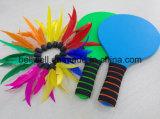 Индивидуальный логотип печать открытый и крытый спортивный набор игр на пляже древесины ракетку для развлечений