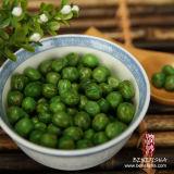 Guisantes verdes con recubrimiento de wasabi