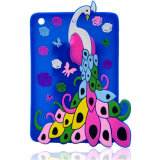 Atacado Peacock Silicone Tablet Case para iPad Mini