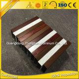 Aluminium-Kapitel-Röhrenaluminium Fabrik-Zubehör ISO-9001 mit Bauholz-Farbe