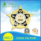 中国の卸し売り良質の金属の青銅の星の形の挑戦硬貨