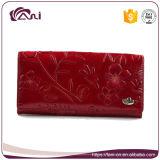Новый бумажник 2017, кожа PU цветка бумажника женщин