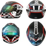 2017 DOT Aprovou Double Visers Motorcycle Full Face Helmet