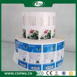 Adhesivo de impresión personalizado Etiqueta transparente