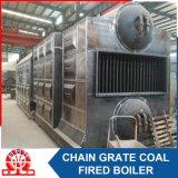 Caldeira queimada de carvão macio da câmara de ar da água do Dobro-Cilindro