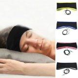 Auricular el dormir del receptor de cabeza de la máscara de la venda del auricular del deporte de la tela de Lycra