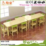 Los niños Nursery School mesa y sillas de madera Muebles de jardín de infantes