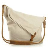 Sacchetto di acquisto della spalla delle signore della tela di canapa di modo (RS-6631)