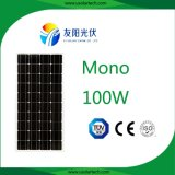 高品質および最も普及した100W太陽電池パネル