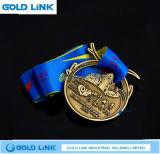 Trofei su ordinazione della medaglia di maratona della medaglia d'ottone antica del metallo che eseguono premio