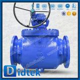 Didtekの石油産業のWcbの鋳造のボルトボンネットギヤによって作動させる上エントリ球弁