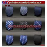 人のタイによって編まれるネクタイの絹製ネクタイビジネスタイの結婚式(B8033)