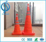 Cone impermeável Foldable do tráfego de pano