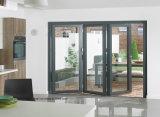 Le dessus a ouvré les portes Bifold de patio de qualité pour le balcon extérieur