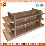 Les étagères en bois et métal Mur d'affichage de gondoles étagères de supermarché (Zhs428)