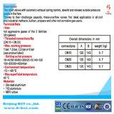 5 type mesure BCTNRV01 de soupape de sécurité de la barre Dn25 de Withwith de corps de fonte d'aluminium