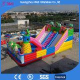 Parque de atracciones inflable de salto inflable grande del Moonwalk del patio de la diapositiva