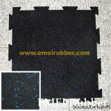 Specked Gym Rubber Flooring Mat Tile / Interlocking