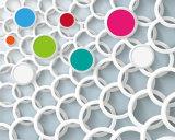 Le modèle coloré 3D de fleur et de cercle imperméabilisent la peinture à l'huile pour la décoration à la maison