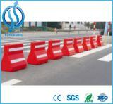 Barreira de sopro do vermelho e a branca da estrada