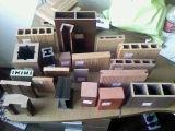 Um deck WPC: PE: Madeira de madeira Deck de plástico