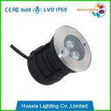 IP68 imprägniern im Freien LED Tiefbaulicht des Garten-3W des Pfad-